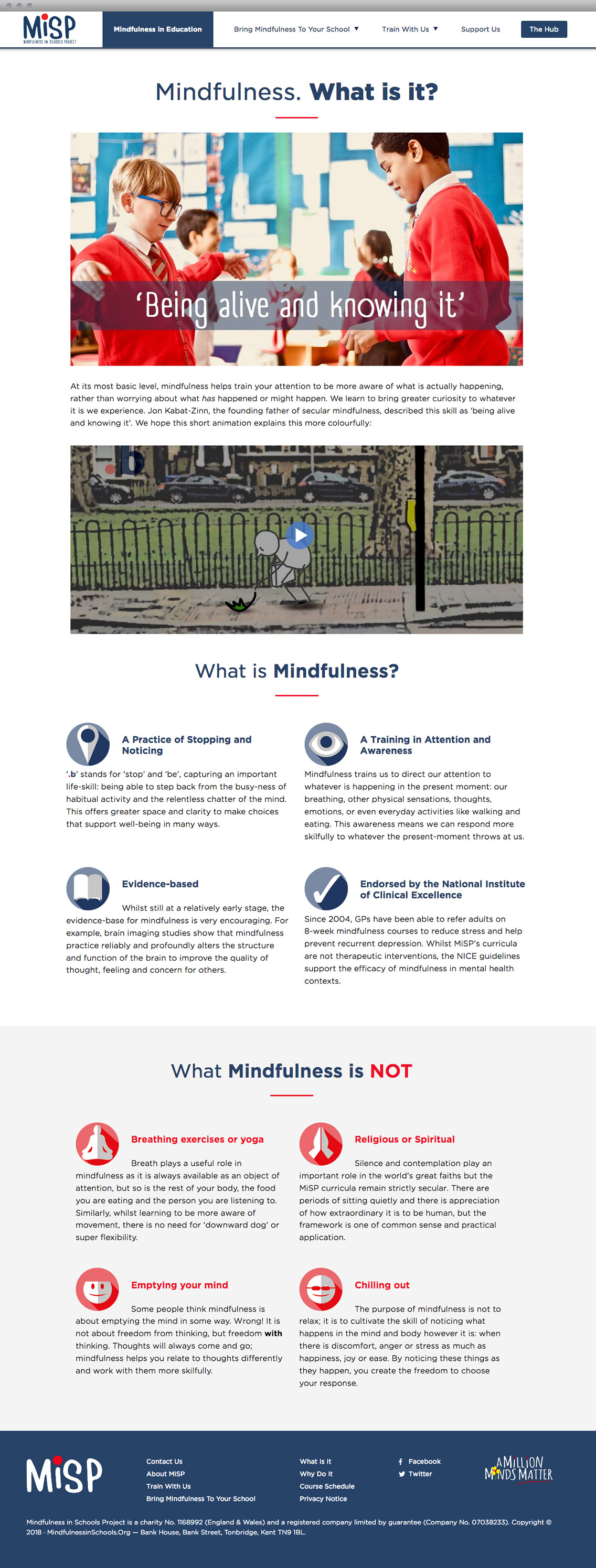 Mindfulness in Schools Project Content Page