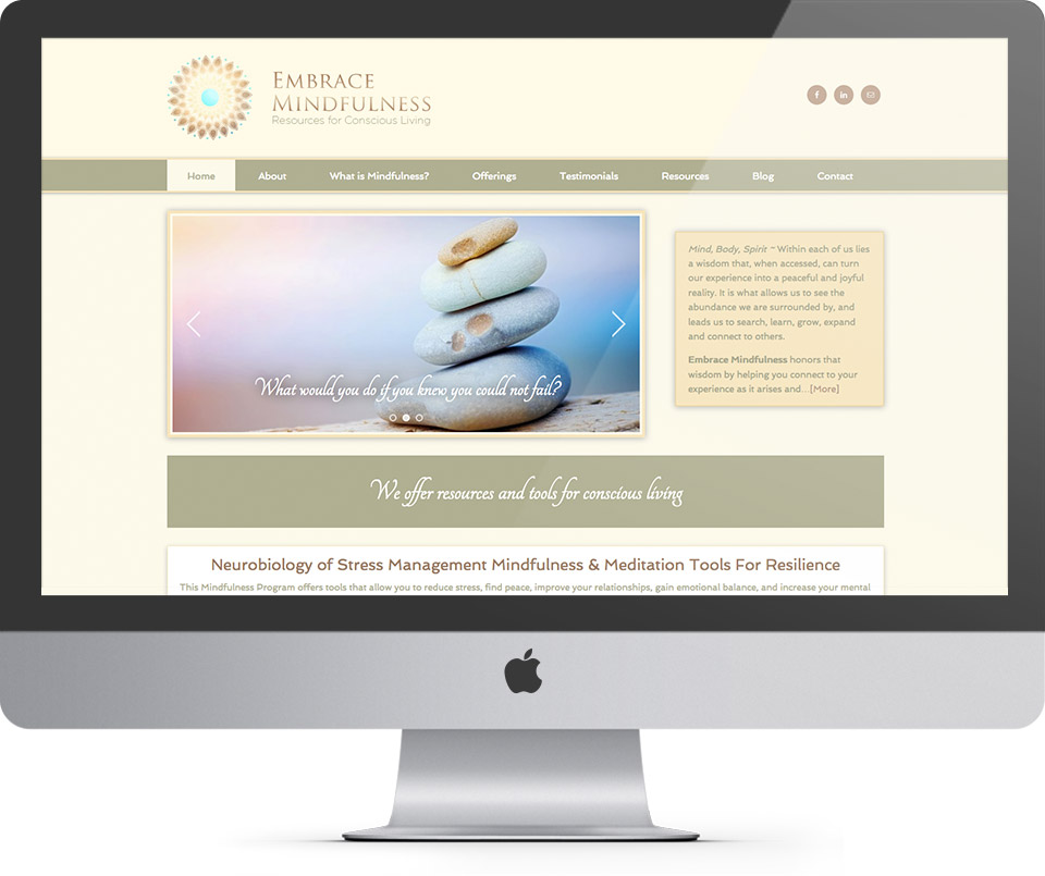 Embrace Mindfulness Homepage