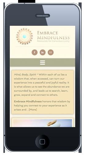 Embrace Mindfulness Homepage Mobile