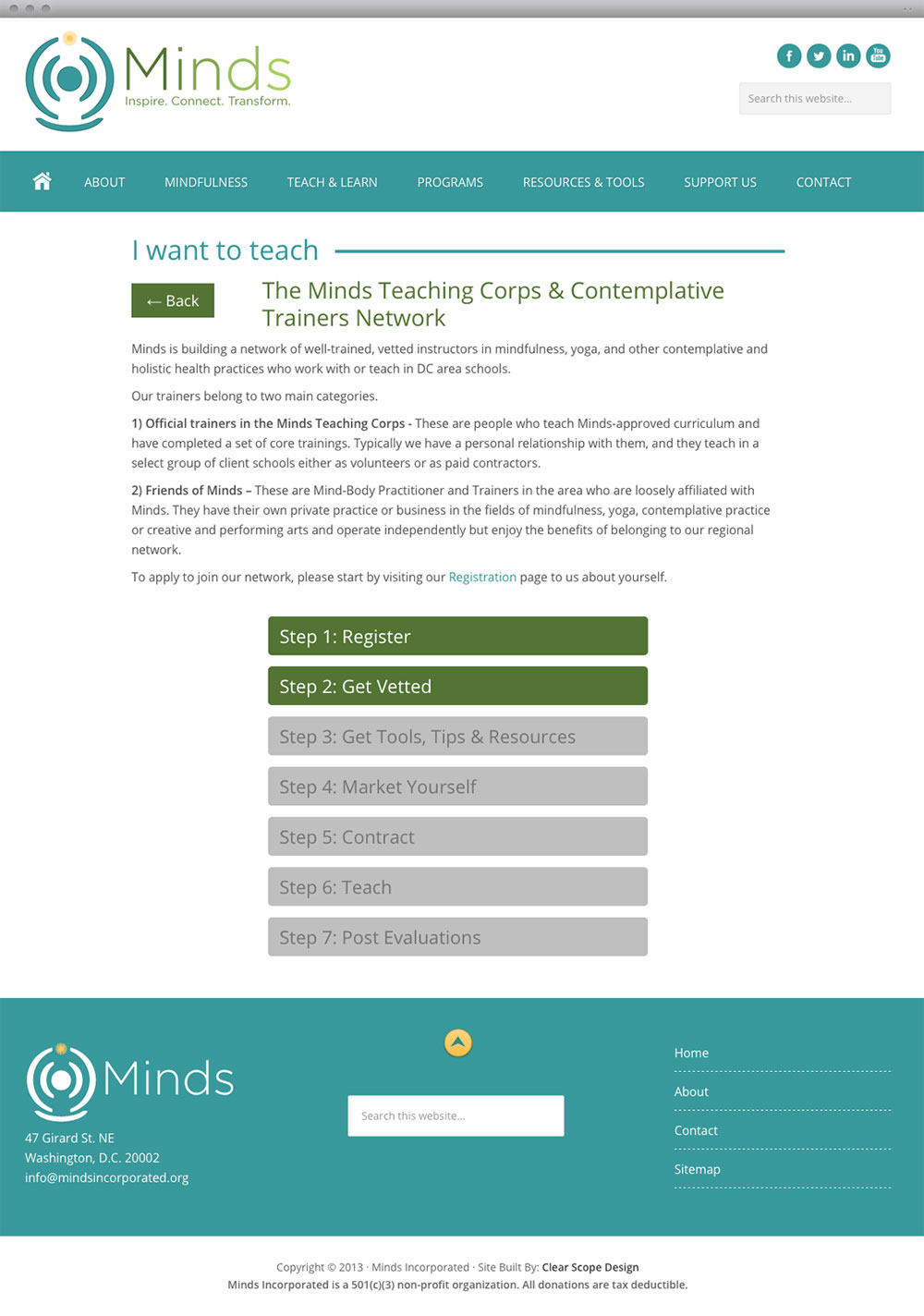 Minds Content Page