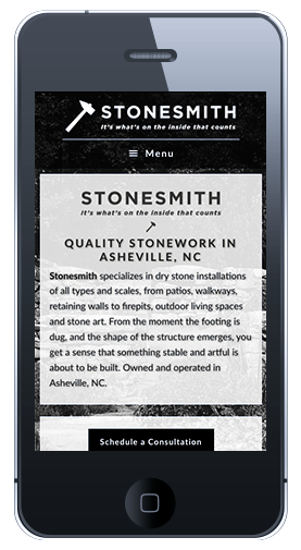 Stonesmith Homepage Mobile