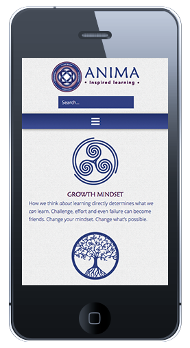 Anima Learning Homepage Mobile