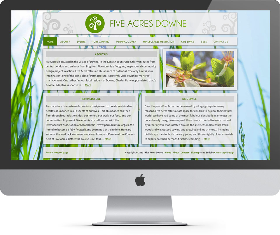 Five Acres Homepage