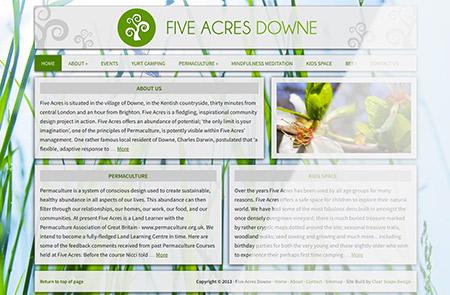 Five Acres Homepage