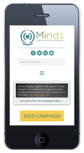 Minds Homepage Mobile