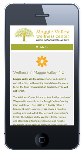 Maggie Valley Wellness Homepage Mobile