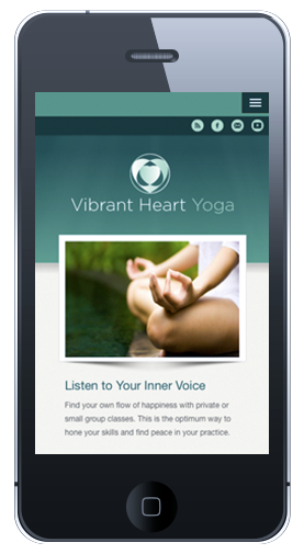 Vibrant Heart Homepage Mobile